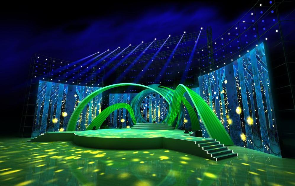 异形舞台及灯光设计